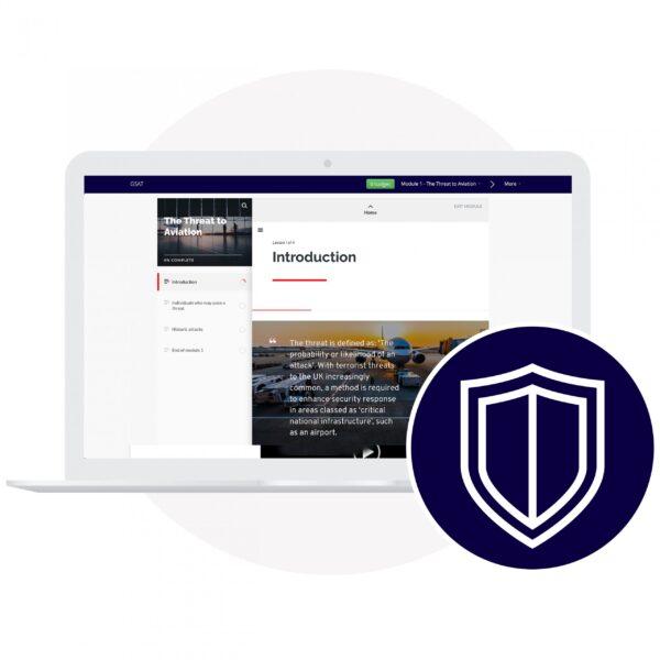 Laptop showing GSAT Training Online Course